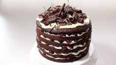 A rich, delicious, indulgent cake, it will have guests begging for more. The video recipe shows the process & helpful tips. BLACK FOREST CAKE (FRESH MAGAZINE...