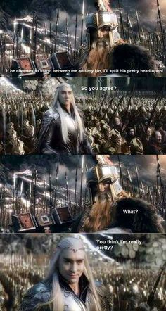 Thranduil Funny Quotes  QuotesGram   fandom stuff   Pinterest     Oh I agree