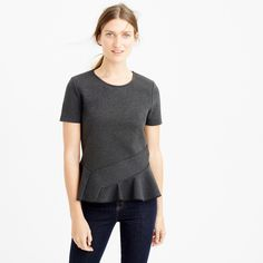 Structured flutter-hem T-shirt : T-Shirts & Tank tops | J.Crew