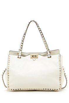 Valentino Leather Stud Trim Handbag on HauteLook
