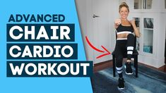 HIIT Workout / Chair Cardio Workout - Chair Exercises (Advanced) // Caroline Jordan // Chair Cardio HIIT is an intense interval workout that you can do seate. Hiit Workout Videos, Fun Workouts, At Home Workouts, Cardio Hiit, Interval Running, Extreme Workouts, Week Workout, Workout Plans, Post Workout