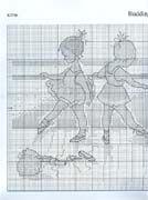 Schema punto croce Ballerine 2