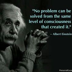 Einstein's thoughts about problems.