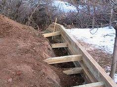 Resultado de imagen de retaining wall timber