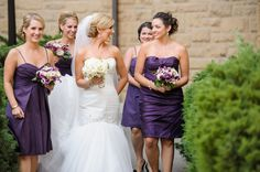 Rebecca Reategui Weddings and Special Events // Vero Suh Photography // Ornamento Flowers // bridesmaids // purple // wedding // timeless // Stanford University