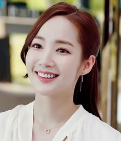What's Wrong With Secretary Kim Park Min Young Inspired Earrings 005 Park Min Young, Korean Actresses, Korean Actors, Korean Beauty, Asian Beauty, Kim Hair, W Two Worlds, Kdrama Actors, Beautiful Asian Girls