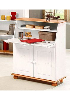 Home affaire Sekretär »Mette«, Breite 82 cm - weiß/honigfarben Home Office, Kitchen Cart, Storage, Table, Design, Furniture, Home Decor, Medium, Products