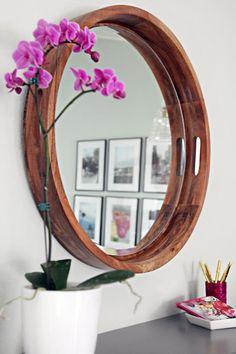 15 unique DIY mirror ideas (with tutorials) Hallway Mirror, Ikea Mirror, Diy Mirror, Floor Mirror, Mirror Ideas, Farmhouse Mirrors, Rustic Mirrors, Diy Photo, Diy Crafts Love