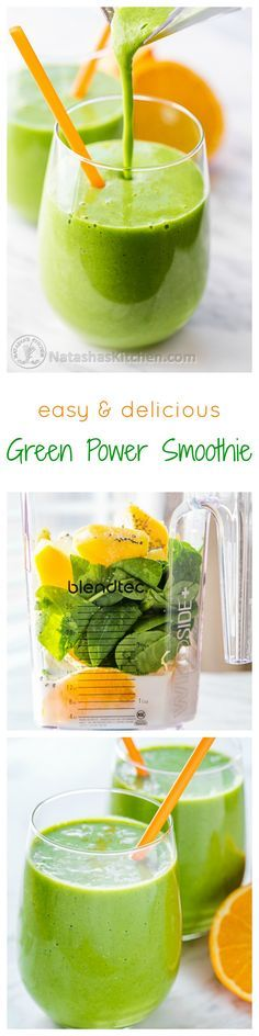 Our favorite Green Smoothie Recipe.  It's a green power smoothie is what it is! @natashaskitchen