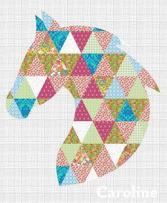Whoa Quilt Top @CustomQuiltTops - horse quilt