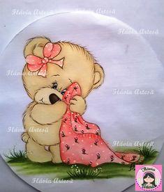 Resultado de imagem para panos de prato de vaquinha Tole Painting, Fabric Painting, Teddy Beer, Teddy Bear Pictures, Baby Sheets, Digital Stamps, Baby Cards, Cartoon Drawings, Baby Quilts