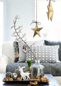 The Gorgeous New Greengate Collection Autumn Winter 2015 Grey and gold christmas decor – The Gorgeous New Greengate Collection for Autumn Winter 2015 Christmas Trends, Noel Christmas, Modern Christmas, Christmas Inspiration, Simple Christmas, All Things Christmas, Winter Christmas, Christmas Coffee, Navidad Simple