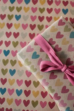 3 Sheets Full of Hearts  Wrapping Paper by ToodlesNoodles on Etsy, $22.00