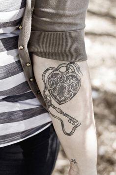 50 Inspiring Lock and Key Tattoos | Showcase of Art & Design
