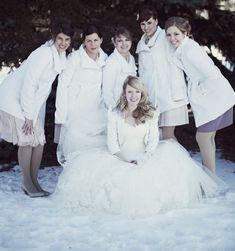 Snow Wedding Bridesmaid Dresses