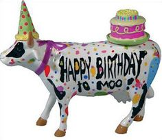 Cow parade Happy Birthday to Moo Happy Birthday Cow, Happy Birthday Celebration, Birthday Celebrations, Cow Ornaments, Mini Cows, Cow Parade, Cute Cows, Painted Pony, Funny Stuff