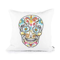 Multi Color Skull Pillow