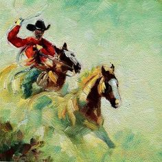 """""""ROPING THE WIND"""" - Original Fine Art for Sale - © Kristy Tracy"""