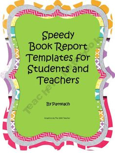 Cereal Box Book Report Templates  Language ArtsReadingWriting