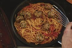 Family-Style Spaghetti & Meatballs. I'm not going to lie, I saw the Kraft cheese commercial for this recipe and actually had to try it. I used the meatball recipe and kept to my own sauce. So good! (No, I didn't actually buy the fancy bag of cheese. Sorry commercial, you failed to make my buy your product... I don't see the point of pre-packaged cheese and breadcrumbs.)
