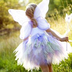 Butterfly/fairy Halloween costume. Mostly pinning because it's so pretty! The girl better look out - her mommy's gonna attempt to fill her life with so much tulle.
