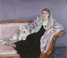Portrait of Ina van Bladeren,1932 by Jan Sluijters (Dutch, 1881-1957)