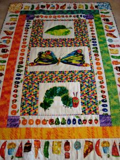 very hungry caterpillar quilt Aaahhhhh!!!! So cute!!!!!!