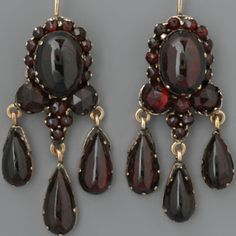Antique Bohemian Garnet Earrings by bryan taylor on Etsy Vintage