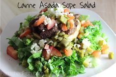 Carne Asada Sope Salad - #15MinuteSuppers