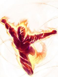 Drawing Marvel The ORIGINAL Human Torch (Golden Age) - Ever since the Human Torch entered the public consciousness in the golden age of comics, we've been fascinated with fire-based characters. I have 13 from Marvel Comics for your consideration. Arte Dc Comics, Bd Comics, Marvel Comics Art, Marvel Comic Books, Comic Books Art, Comic Art, Book Art, Fantastic Four, Mister Fantastic
