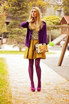 Purple & Yellow look