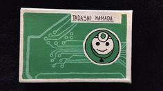 DIY Baymax's chip made from Tadashi Hamada canvas painting. Inspired from Disney's Big Hero 6.