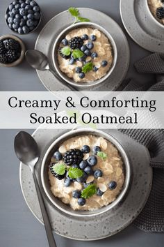 Looking for a delicious and healthy breakfast recipe? Checkout this wonderful soaked oatmeal recipe. It's filling and comforting. Best Breakfast Recipes, Vegetarian Breakfast, Brunch Recipes, Fall Recipes, Real Food Recipes, Breakfast Ideas, Healthy Recipes, Healthy Breakfasts, Brunch Ideas