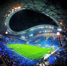 Soccer Stadium, Football Stadiums, Football Soccer, Velodrome Marseille, Soccer Images, Nike Football Boots, Soccer Art, Football Is Life, European Football