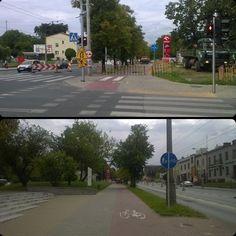 DDR wzdłuż Męczenników Majdanka zastawiona chyba od tygodnia. W takim wypadku można legalnie jezdnią. #rower #remont #lublin