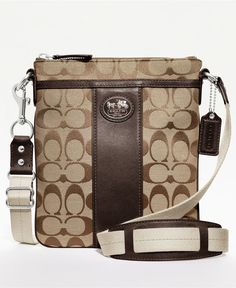 COACH SUTTON SIGNATURE SWINGPACK - Crossbody & Messenger Bags - Handbags & Accessories - Macy's  [Black, Silver, or Brown]