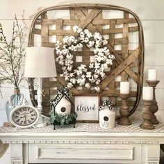 Tobacco Basket Decor Ideas - My Cozy Colorado the best and most beautiful rustic tobacco basket decor ideas and inspirations that will give your beautiful home a charming farmhouse vibe Home Decor Baskets, Basket Decoration, Baskets On Wall, Decoration Crafts, Farmhouse Design, Farmhouse Style, Farmhouse Decor, Modern Farmhouse, Farmhouse Ideas