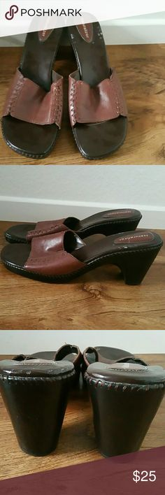 Brown naturalizer shoes size 11M Brown naturalizer shoes size 11M in like new condition with the exception of the white spots that are reflected in the first photo. Please see photos for more details. Feel free to ask any questions that you may have. The heel height 3.25 inches Naturalizer Shoes