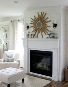 Cozy by the fireplace Geplankter Kamin Media Extenders and the Wired (or Wireless) Hom Fireplace Lighting, Slate Fireplace, Fireplace Mantle, Fireplace Design, Fireplace Windows, Fireplace Ideas, Formal Living Rooms, Home Living Room, Living Spaces