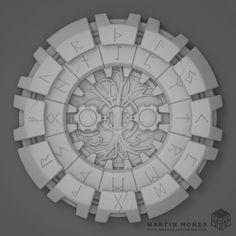Rune Astrology Chart, Martin Hones on ArtStation at https://www.artstation.com/artwork/mn6E9