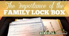 Family Lock Box - Survival at Home