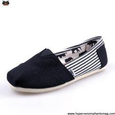 Latest Listing Discount University Stripe Black Mens Classics Toms Shoes
