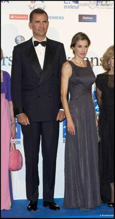 Felipe and Letizia - She in Adolfo Domínguez