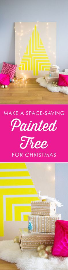 How to make a space saving painted tree for Christmas