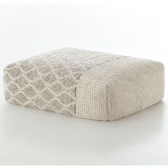Gandia Blasco Mangas Space Rectangular Rhombus Pouf (€2.200) ❤ liked on Polyvore featuring home, furniture, ottomans, ivory, cream ottoman, beige furniture, ivory furniture, antique white furniture and rectangle ottoman