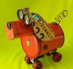 FRED - Robot Dog Sculpture - Reclaime2Fame  Sculpture by Will Wagenaar