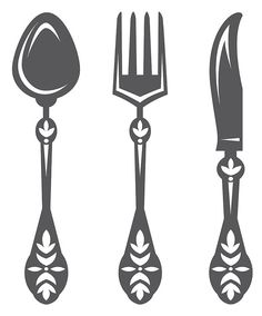 Kitchen Wall Decal Dining Room Wall Decals Spoon by DecalSisters