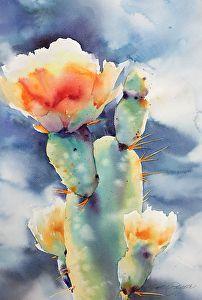 Sonoran Lights by Yvonne Joyner Watercolor ~ 28 x 20