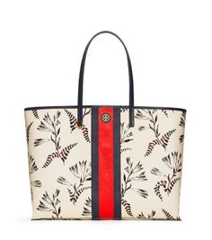 399fac274c70 Tory Burch Kerrington Stripe Square Tote Fashion 101