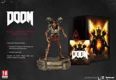 Doom: Collector's Edition - PlayStation 4 Includes: tall statue of the Revenant on LED-lit base. Exclusive metal case with the game. Ps4 Or Xbox One, Xbox One Games, Pc Games, Xbox 360, Doom 4, Doom Game, Edition Collector, Videogames, Store